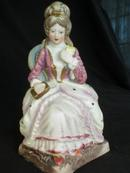 Pretty Bisque Victorian Lady Figurine