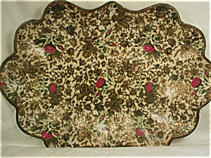 Lacquer or Paper Mache Chintz Bowl