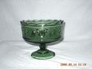 Vintage Green Pedestal Bowl/Compote