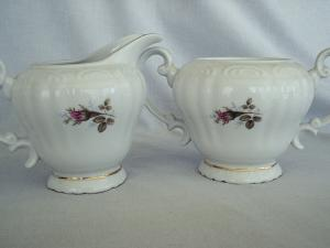 Royal Rose Sugar and Creamer
