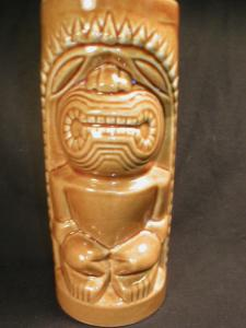 Interresting Tiki Cup or Vase