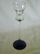 Pretty Blue and Crystal Glass Candle Stick