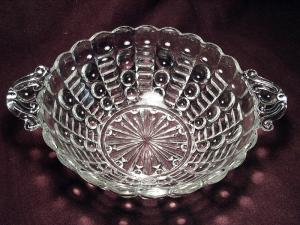Ball and Rib Pattern Two Handled Bowl