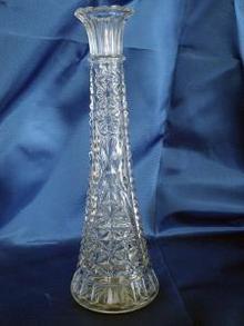 Thousand Line Stars & Bars Crystal Bud Vase