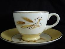 Autumn Gold Teacup and Saucer