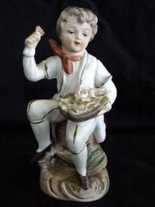 Norleans Japan Bisque  Boy with Flowers