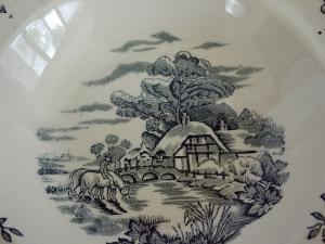 Staffordshire Dessert Bowl-Rare