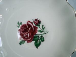 J&G Meakin Rose Saucer