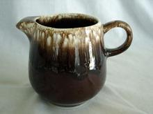 McCoy Pottery Brown Drip Creamer