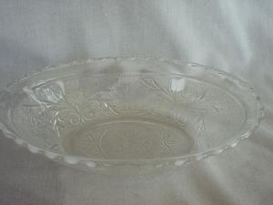 Sandwich Glass Oval Serving Bowl