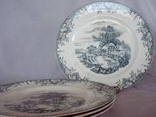 Staffordshire Crown Clarence Dinner Plate-Rare