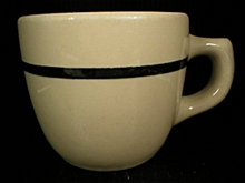 Sterling China Company Black Line Restaurant Coffee Cup