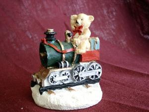 Teddy Bear on a Train