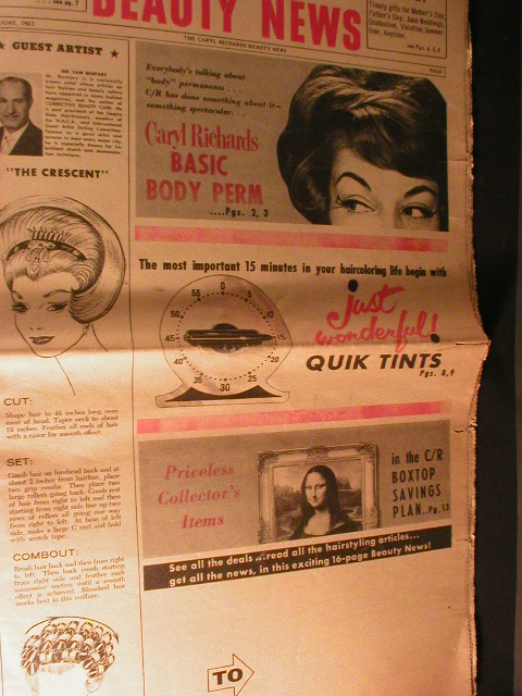 1963 Caryl Richards Beauty News Advertising Newspaper