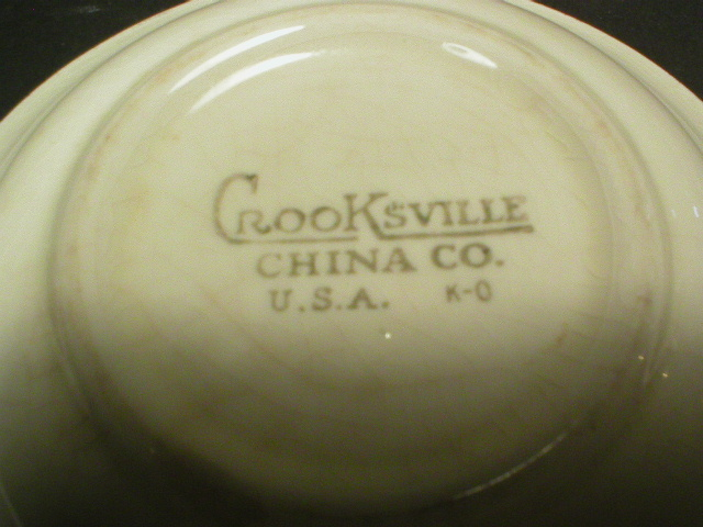 Crooksville Courting Couple Dessert Bowl