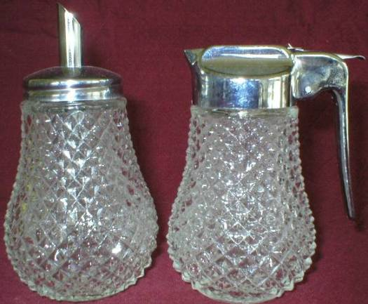Diamond Point Sugar and Drip Cut Creamer
