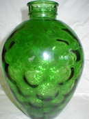 Emerald Green Wheaton Honeycomb Pattern Bottle