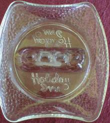 Old Deco Style Holiday Inn Glass Ashtray