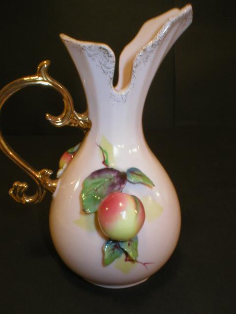 Lefton China Fruit Pitcher Vase