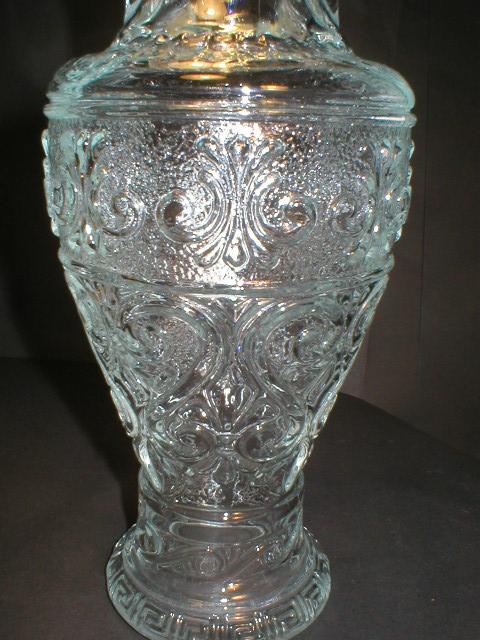 Very Nice Glass Decanter - Fleur-De-Lis