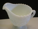 Imperial Milk Glass Grape Pattern Footed Creamer
