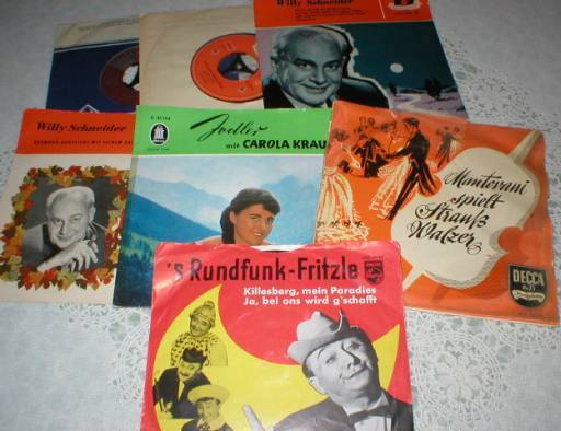 Lot of 7 Old German Label 45rpm Records
