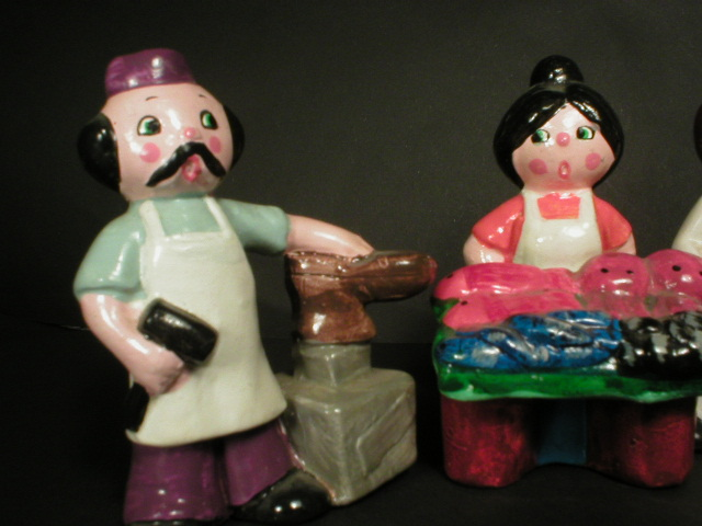 Adorable Set of Enesco People - Occupational Figurines