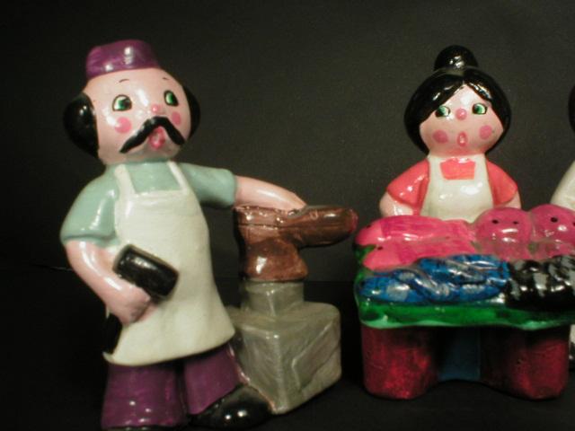 Adorable Set of Enesco People - Occupational Figurines