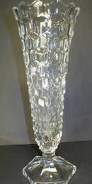 Fostoria American Pattern Flared Hexagonal Footed Bud Vase