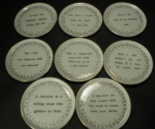 Very Cool Set of Eight Sayings Coasters