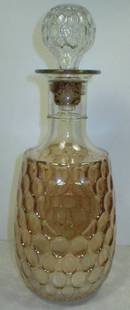 Nice Iridescent Marigold Thumbprint Pattern Decanter
