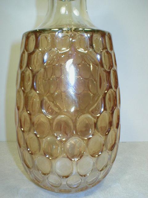 Nice Iridescent Marigold Thumbprint Pattern Decanter