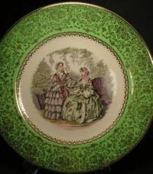 Sweet Salem China Godey Ladies Charger Plate