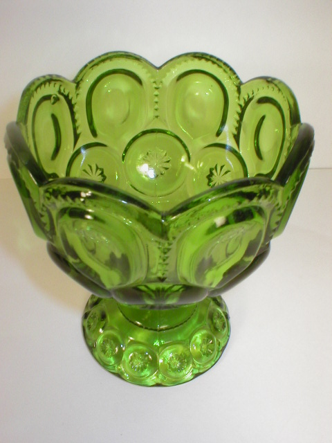 Nice Green Moon and Star Footed Jelly Compote