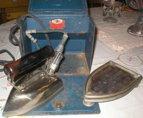 1921 Sunbeam Electric Iron w/ Steel Box
