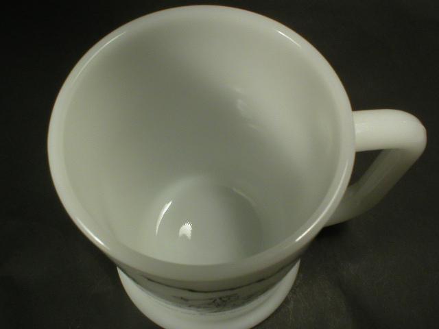 Cute Milk Glass Golfer Beer Mug