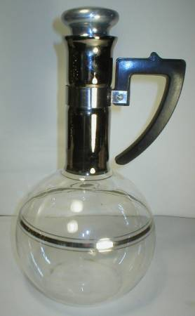 1949 Inland Blown Glass Carafe Bakelite Handle
