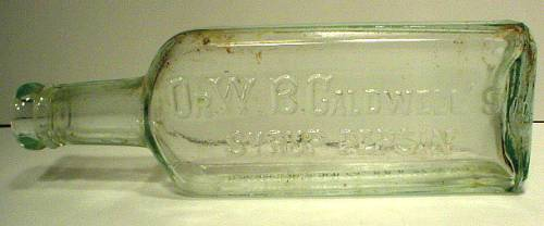 Very Light Blue Dr. W. B. Caldwell's Syrup Pepsin Bottle