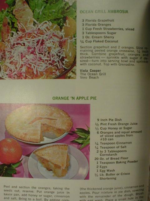 1960's Famous Florida Chef's Favorite Citrus Recipes Book