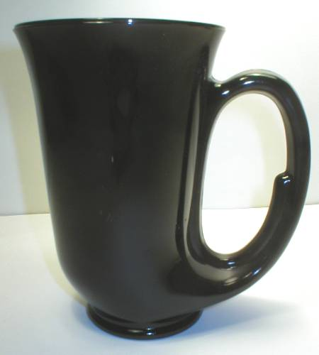 Nice Black Amethyst Glass Bugle Mug