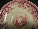Homer Laughlin Red Currier & Ives Prints Cup and Saucer