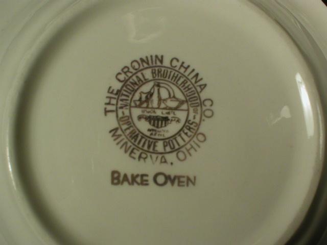 Set of Five Cronin China Bake Oven Small Cassaroles