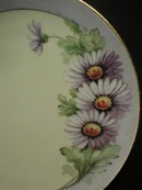 Gorgeous Thomas Bavaria Hand Painted Daisies Plate