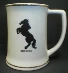 Nice Vintage Broncos Silhouette Tankard Mug