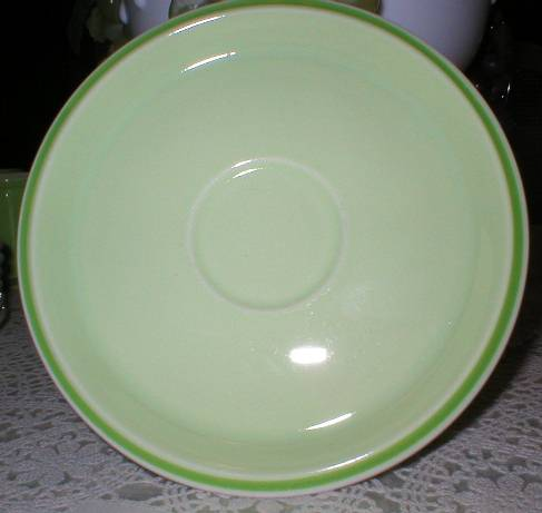 Retro Japan Lime Two Tone Lime Green Saucer