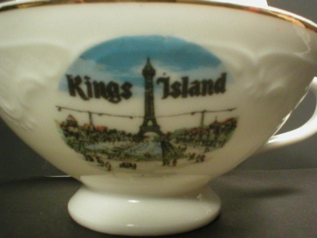 Kings Island Amusement Park Souvenir Teacup & Saucer