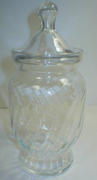 Nice Swirl Optic Apothecary Candy Jar