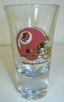 Washington Redskins Tall Flared Shot Glass