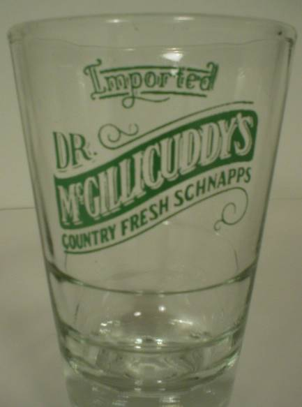 Dr. McGillicuddy's Country Fresh Schnapps Advertising Shot Glass