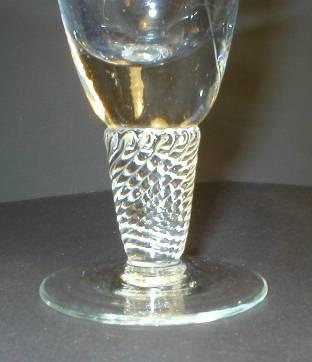 Pretty Rose Cut Glass Twisted Stem Bud Vase